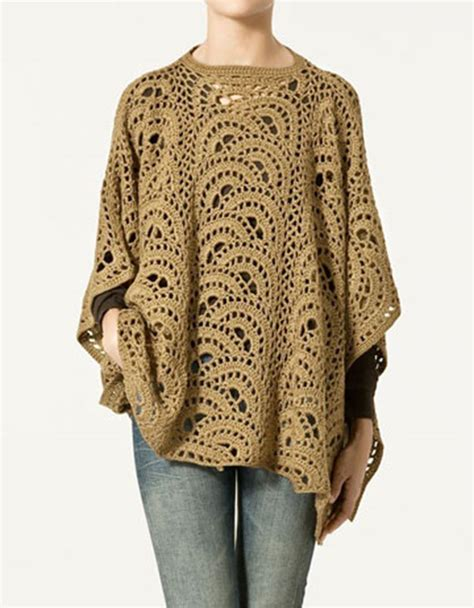 7 Beautiful Ponchos by Pin Easy Crochet Poncho On