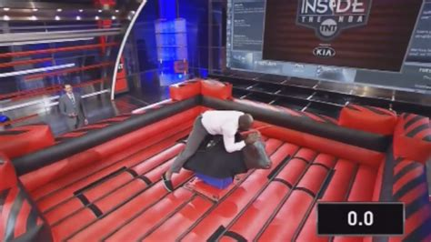 shaquille o neal energy drink shaq try to ride a mechanical bull and fail
