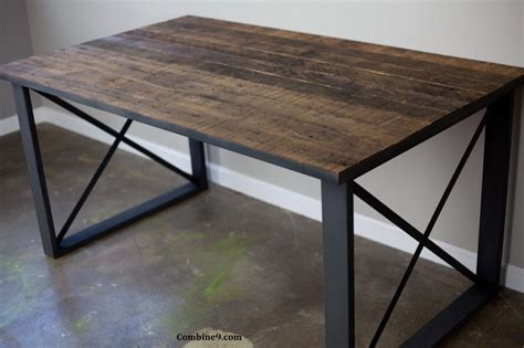 Industrial Modern Desk Dining Table Desk Modern Industrial Mid Century Rustic