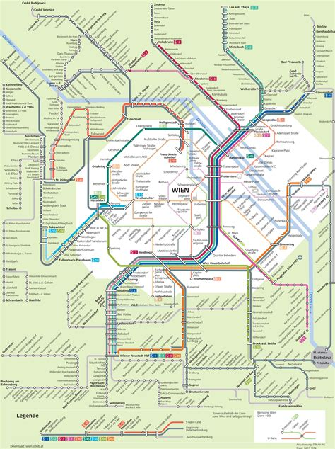 Lot Munchen 6 Kartu map of vienna s bahn commuter suburban