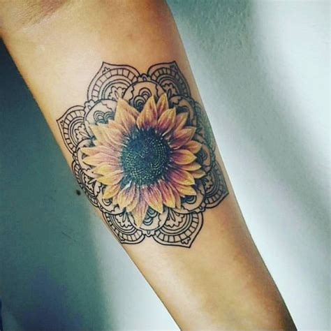 sacred geometry sunflower tattoo www pixshark com