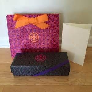 Tory Burch Gift Card - tory burch tory burch gift bag shoe box and receipt card from jin s closet on poshmark