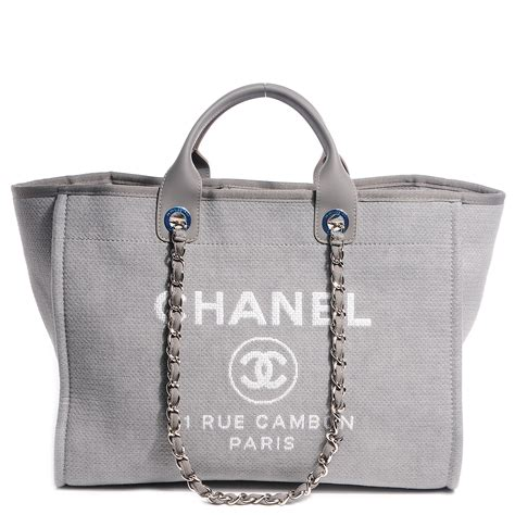 Chanel Deauville Shopping Tote Bags 972 chanel canvas deauville large tote grey 85485
