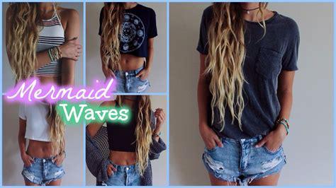 mermaid waves perm mermaid waves hair tutorial youtube