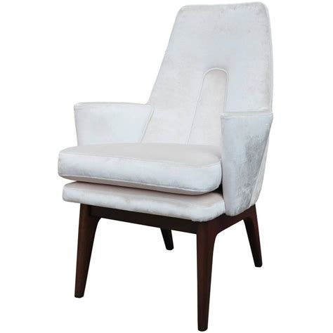 Pale Pink Chair by Pair Of Adrian Pearsall Modern High Back Lounge Chairs In
