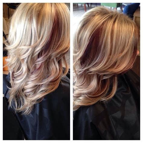 dirty blonde bob hairstyle with peek a boo highlights best 25 red peekaboo highlights ideas on pinterest plum