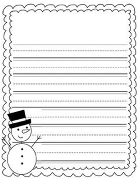 lined paper with snowman border christmas writing paper with decorative borders writing