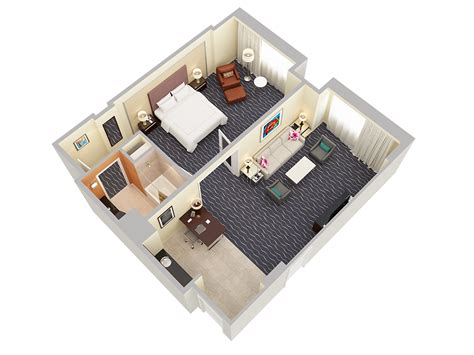 3d floor plans hotel gallery the orlando - 1 Room Floor Plans 3d