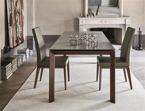 dining table leg placement calligaris omnia ceramic extending table 180x100cms