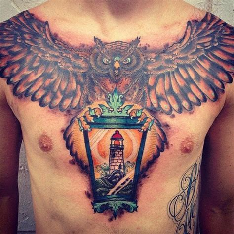 tattoo owl on chest owl tattoos page 5