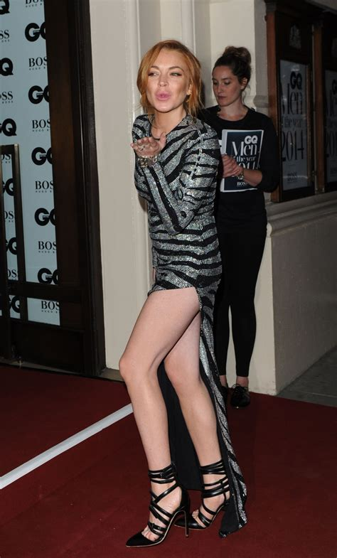 Lindsay In Gq by Lindsay Lohan Gq Of The Year Awards 2014 In