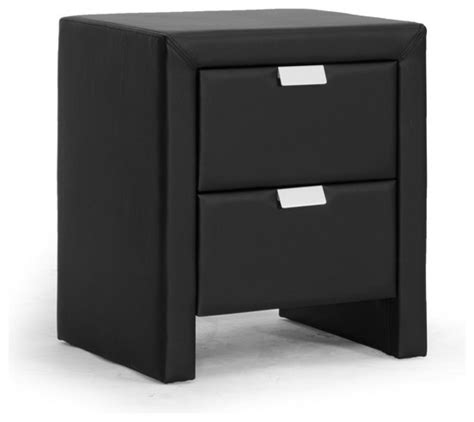 Modern Black Nightstands Baxton Studio Frey Black Upholstered Modern Nightstand Contemporary Nightstands And Bedside