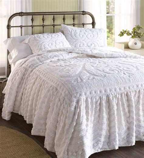 chenille comforters king flourish skirted chenille bedspread king possible