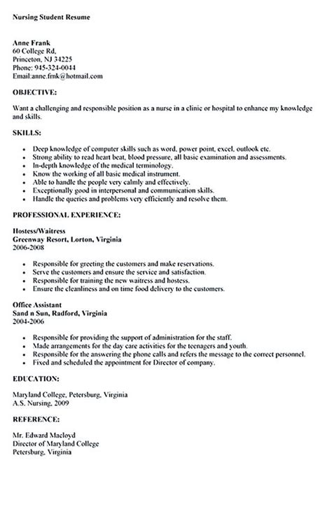 sle nursing student resume nursing student resume must contains relevant skills experience