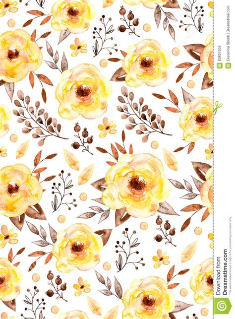 yellow watercolor pattern watercolor floral seamless pattern with yellow flowers and