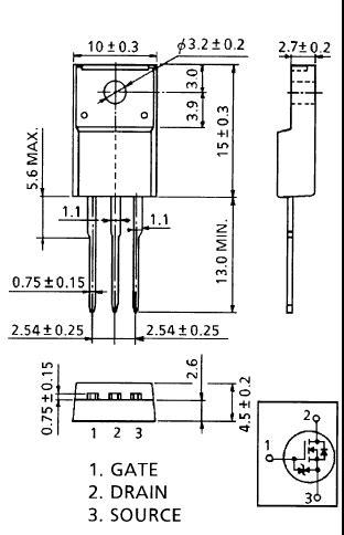 transistor mosfet k2545 2sk2545 k2545 mosfet n channel 600v 6a 40w 0 9 ohm to 220f al hekma electronics