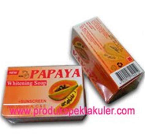 Sabun Muka Papaya warna warni kosmetik sabun pemutih pepaya