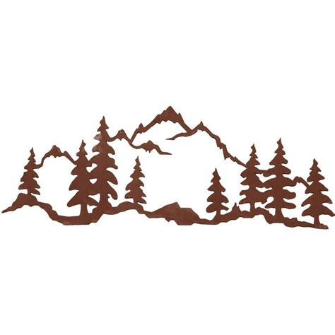 mountain silhouette tattoo mountain metal mountain 42 quot x 15 quot steel wall