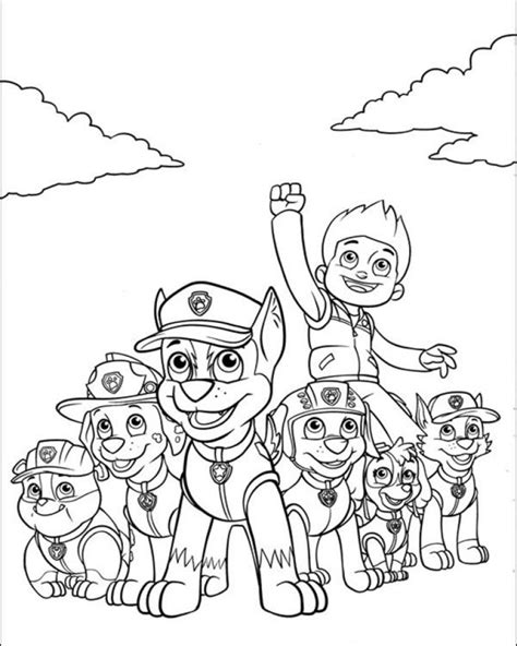 paw patrol coloring pages for toddlers get this paw patrol coloring pages for kids 32186