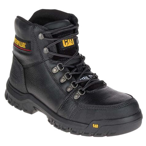 black steel toe boots for caterpillar outline black 6 inch steel toe work boot