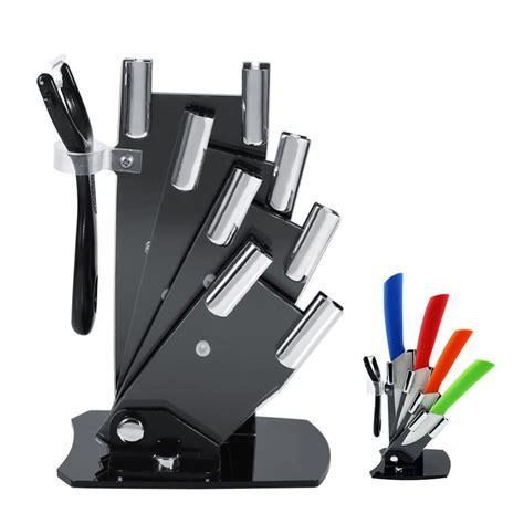 kitchen knives holder kitchen knife cutlery storage black knife holder stand for