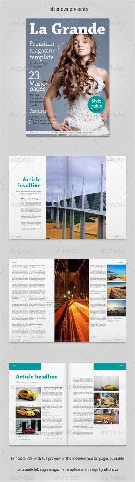 Magazine Layout Envato | la grande indesign magazine template by ottonova
