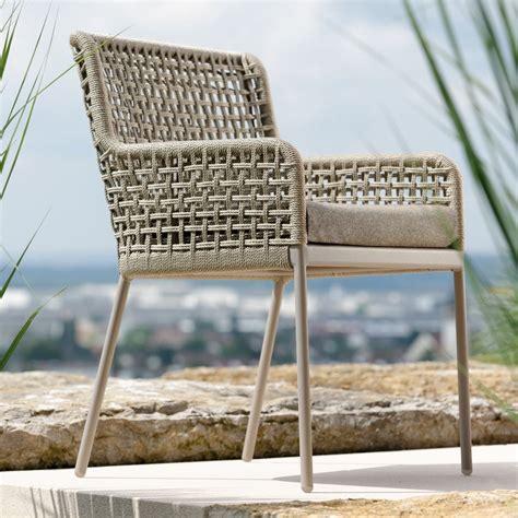 gartenmöbel modern design greta diningsessel aluminium rope inklusive kissen