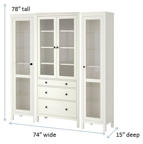 using several ikea hemnes cabinets i m hoping to hack this into a built in looking china