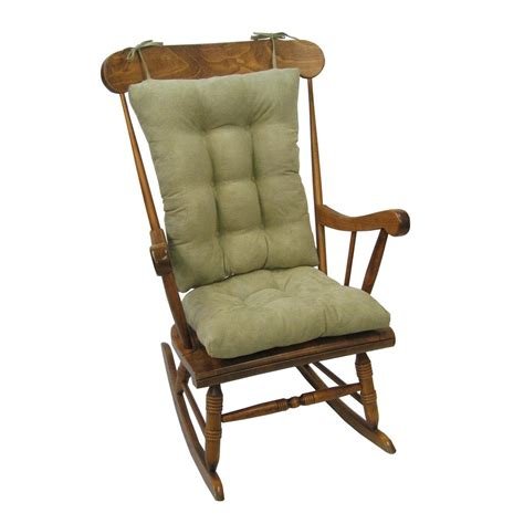 rocking chair cushions klear vu gripper twillo thyme jumbo rocking chair cushion set 849140xl 258 the home depot