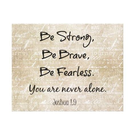 tattoo wuotes be strong brave fearless bible verse quote canvas print