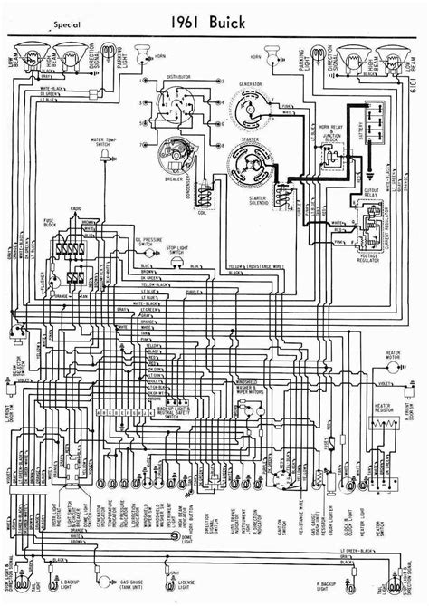 electrical wiring wiring diagrams of 1961 buick special