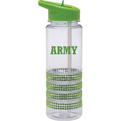 lime green water army block font in lime green imprint on lime green bling