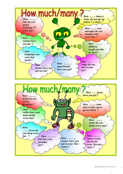 how much how many worksheet free esl printable