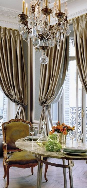 elegant drapes for dining room this is the epipheny of a paris apartment with its