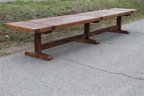 Handmade Trestle Tables - buy a handmade trestle table made to order from