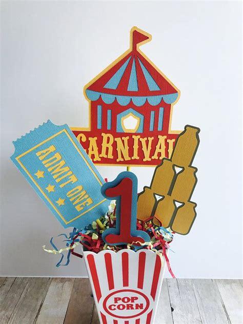 carnival birthday centerpiece circus birthday