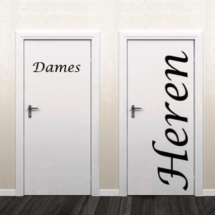 sticker dames heren toilet toilet wc deursticker heren dames stickythings nl