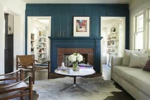 Living Room With Fireplace Wall Color Teal Fireplace Eclectic Living Room Simo Design