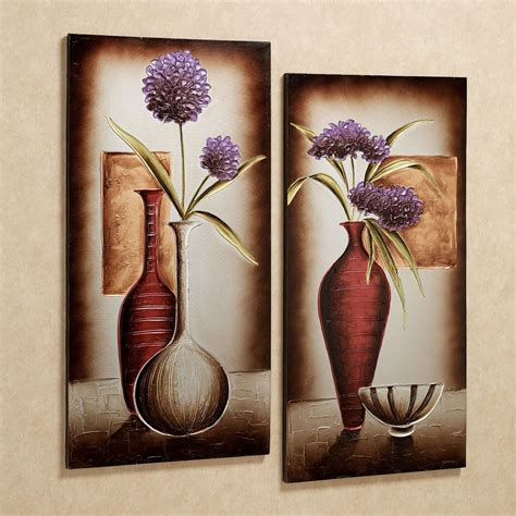 Floral Tranquility Canvas Wall Art Set