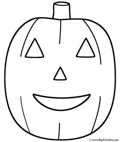 pumpkin jack o lantern coloring page fruits and vegetables