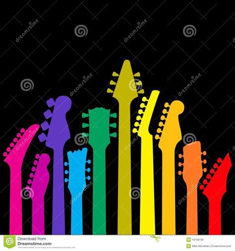 colorful guitar wallpaper colorful guitars royalty free stock images image 10168799