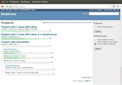 redmine templates progressive projects list plugins redmine