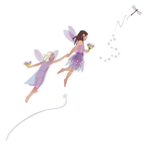 fairies wall stickers friendship fairies wall stickers set by kidscapes