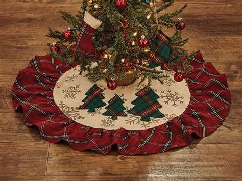 highland holiday christmas tree skirt 24 quot