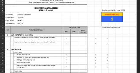 format buku administrasi bkb aplikasi raport paud kb kelompok usia 2 3 tahun kurikulum