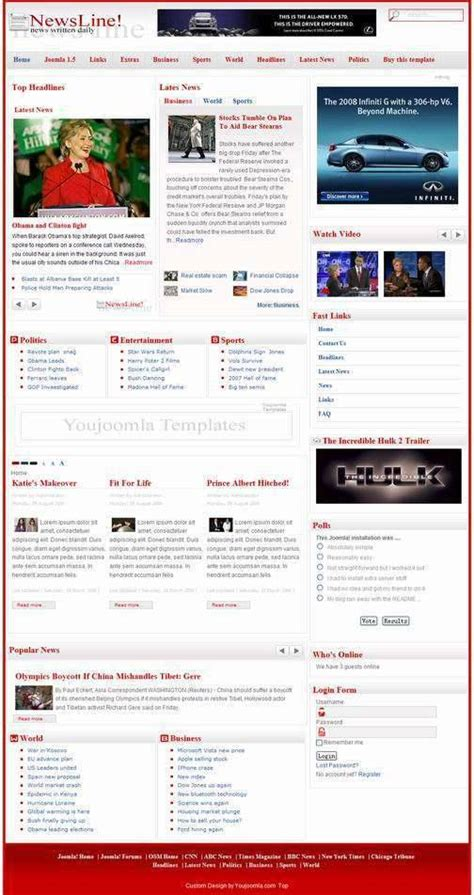 free joomla news template joomla news template