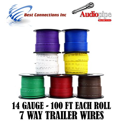 trailer light cable wiring harness 100ft spools 14 7