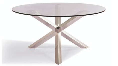 Glass Stainless Steel Dining Table Clear Tempered Glass And Stainless Steel Columbus Dining Table Zuri Furniture