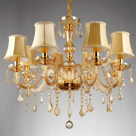 Chandeliers And Pendant Lighting 6 8 Arms Fashion Chandelier Lighting Bedroom Pendant Chandelier Light Chagne Color