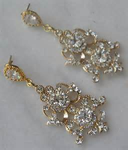 gold chandelier earring rhinestone gold chandelier earrings gold bridal